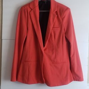 Mossimo Sweater Material Orange Blazer Large